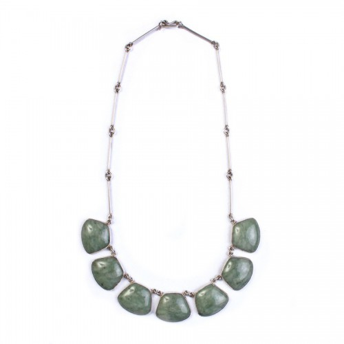 Necklace of Jade and Silver