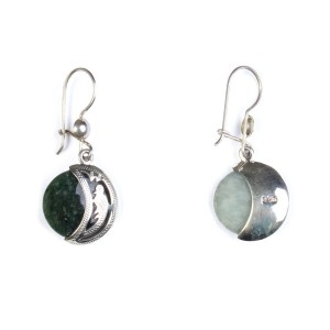 Earrings moon stamped