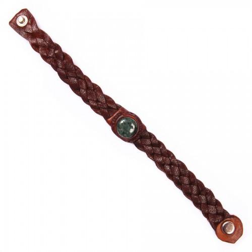 Bracelet en Cuir avec Jade