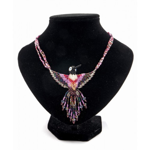 Colibri necklace with crystals