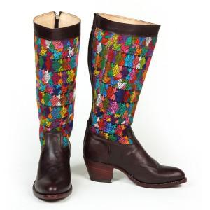 Botas Multicolor Tacón Alto