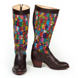 Multicolor Boots High Heel