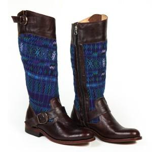 Diagonal Multicolor Boots