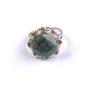 Bague argent et jade