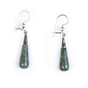 Aretes de Jade botella