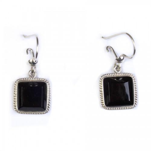 Square Jade Earrings