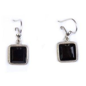Square Jade Earrings