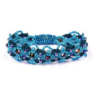 Crown Macrame Bracelet with Crystals