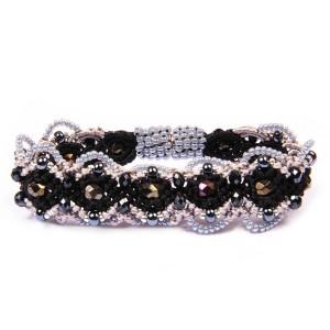 Crown Macrame Bracelet with Crystals