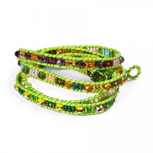 Snake Bracelet with Crystal