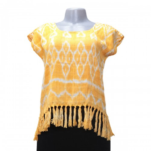 Short blouse with fringes