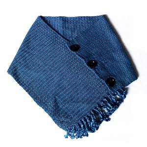 Scarf with button